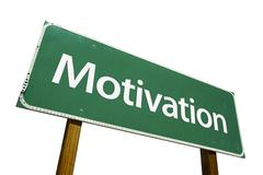 Motivation Road Sign with Clipping Path - stock photo