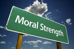 Moral Strength Road Sign Stock Photos