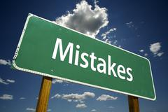 Mistakes Road Sign - stock photo