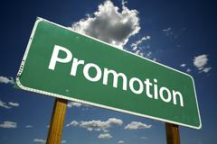 Promotion Road Sign - stock photo