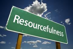 Resourcefulness Road Sign Stock Photos
