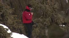 Ski patrol on Radio Stock Footage