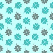 Abstract Natural Clover Seamless Pattern Background Vector Illus Stock Illustration