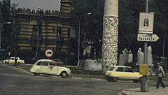 Sevilla 1977: traffic in the street Stock Footage