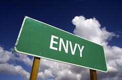 Envy Road Sign - 7 Deadly Sins Series - stock photo