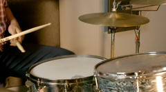 Studio Drummer Session Stock Footage