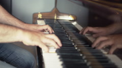 Piano Music Composing - stock footage
