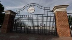 Richmond Raceway Exterior Gate - stock footage