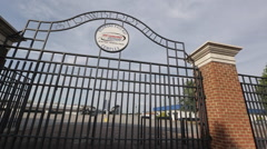 Richmond Raceway Gate Stock Footage
