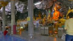 Tiger Cave Temple, Krabi, Thailand Stock Footage