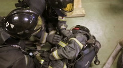 Training of rescue workers. Stock Footage