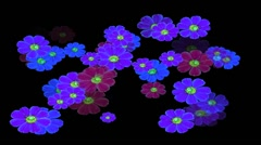 Stock Video Footage of Vj Loop Flowers Animation background