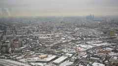 Moscow cityscape at wintertime. Stock Footage
