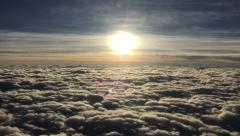 Stock Video Footage of Flying through the clouds a view from an airliner
