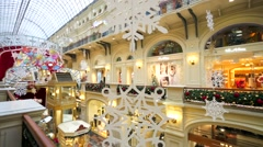 Christmas time at Gum Department Store. Stock Footage
