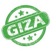 Stock Illustration of Giza green stamp