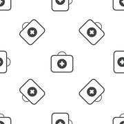 First aid kit pattern Stock Illustration