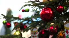 Christmas-tree decorations Stock Footage