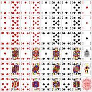 Poker cards full set four color classic design 400 dpi Stock Illustration