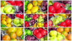 Thailand colorful mouthwatering desserts. Stock Footage