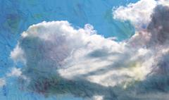 Beautiful clouds Stock Illustration