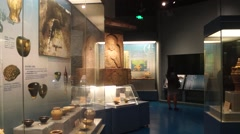 Stock Video Footage of Shenzhen Museum: Shenzhen ancient and modern historical relics exhibition