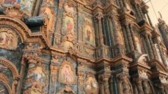 Iconostasis in church Stock Footage