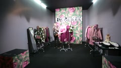 Showroom of a fashion designer Liza Odinokikh. Stock Footage