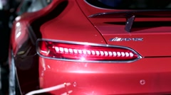 Red Mercedes-AMG GT sports car Stock Footage