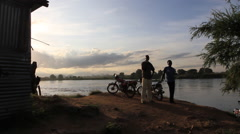 The Blue Nile, South Sudan Stock Footage