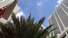 SunTrust International & 50 Biscayne buildings at the Miami  Downtown. Stock Footage