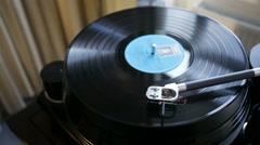 Vinyl rotating on a turntable, Stock Footage