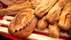 Stock Video Footage of Fresh crisp breads