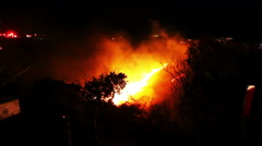 Fire chatsworth ca Stock Footage