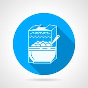 Contour vector icon for cereal Stock Illustration