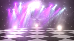 virtual dance floor disco lights background 5 - stock footage