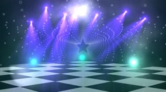 virtual dance floor disco lights background 4 - stock footage