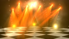 Virtual dance floor disco lights background 3 Stock Footage