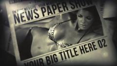 News Paper Show - stock after effects