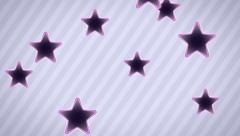 Flying star icons. Looping. Alpha channel is included. Stock Footage