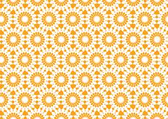 Abstract Kaleidoscopic Seamless Pattern in Orange for Wallpaper Stock Illustration