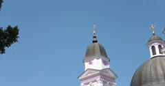 Cathedral. Chernivtsi, Ukraine. Domes. Stock Footage