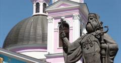 Cathedral. Chernivtsi, Ukraine. Monument Metropolitan Hackman. Stock Footage