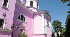 Cathedral. Chernivtsi, Ukraine. Back view. Stock Footage