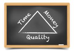 Quality Triangle Stock Illustration