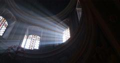 Cathedral. Chernivtsi, Ukraine. Lights from window. Stock Footage