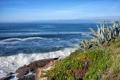 Atlantic Ocean Coastline in Estoril - stock photo