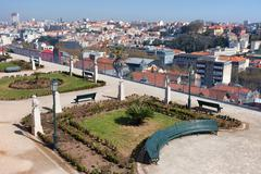 Garden of San Pedro de Alcantara in Lisbon Stock Photos