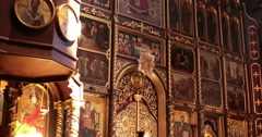 Cathedral. Chernivtsi, Ukraine. Iconostasis. Stock Footage