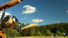 Shimano fishing tackle company and ZipBaits Stock Footage